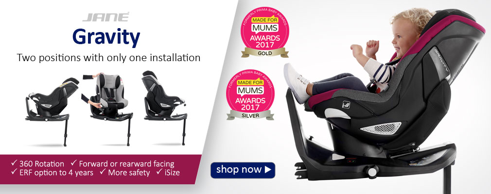 Gravity iSize car seat by Jané