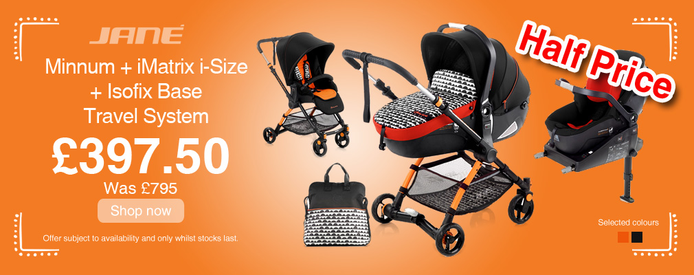 Offer - Great savings on Jane Minnum Travel Systems