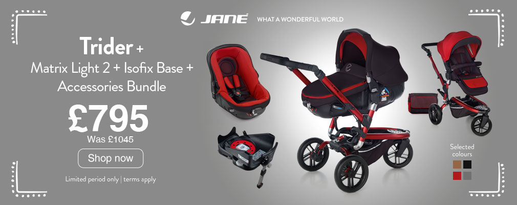 Free Isofix Base with selected Trider Matrix Travel Systems