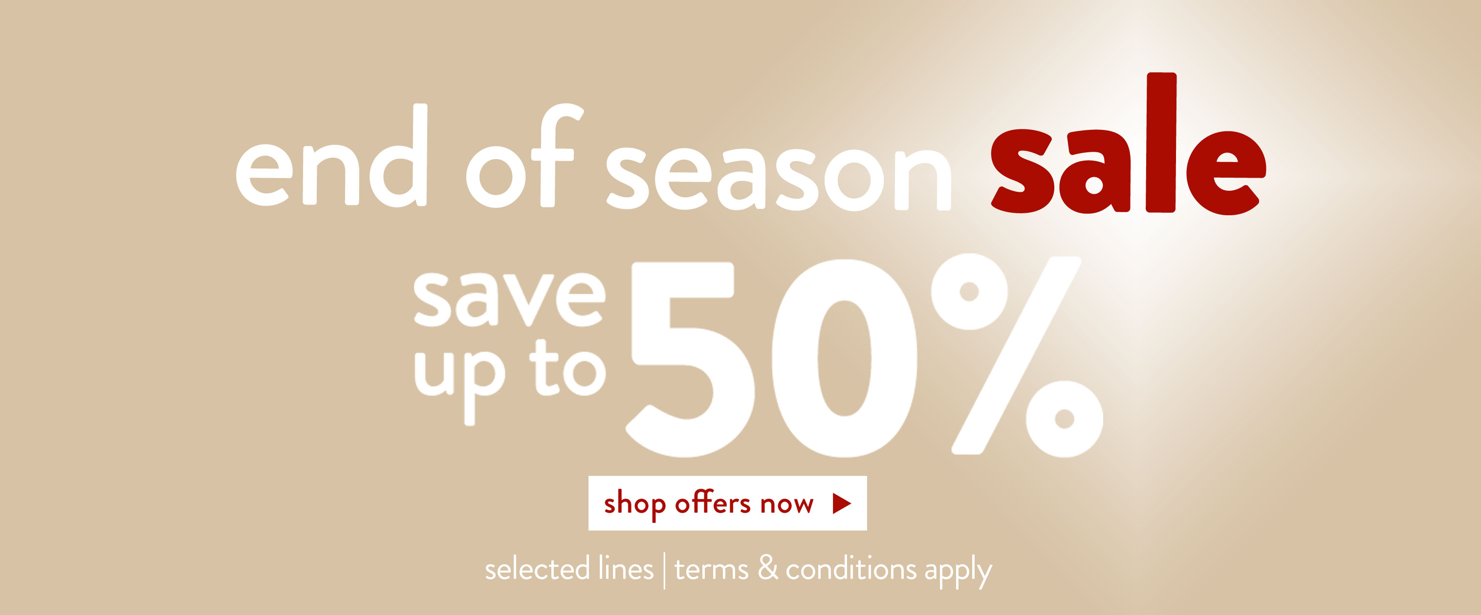 End of Season Sale event now on