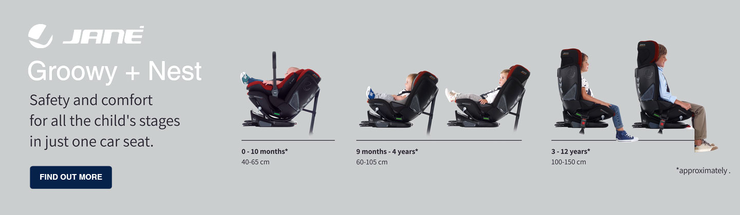 Jane Groowy + Nest iSize 0-12 years Car seat