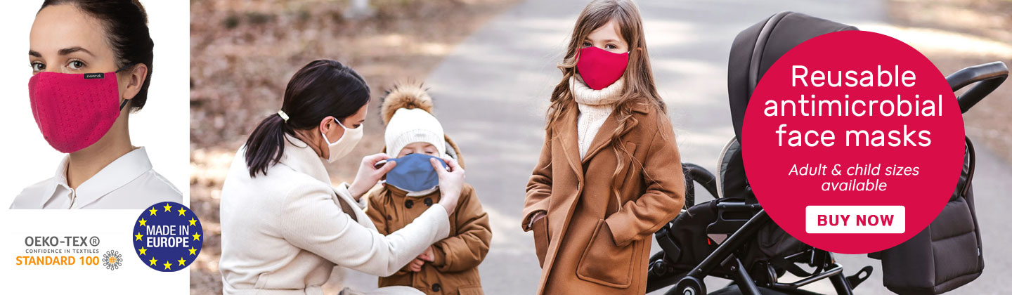 Antimicrobial face masks for adults and children
