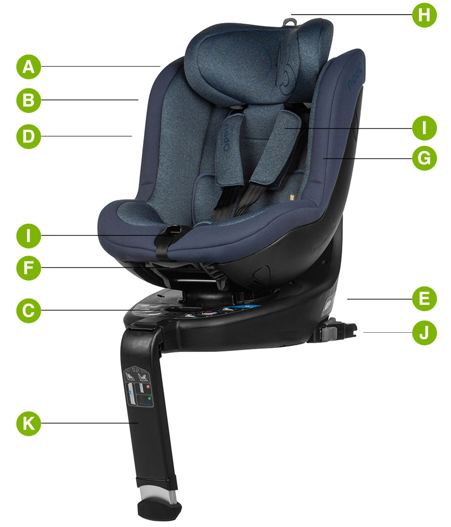 BeCool 03 Lite i-Size Car Seat Technical details
