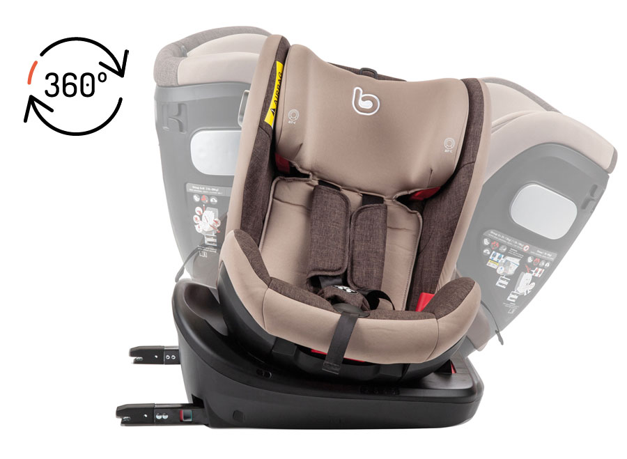 360 degrees rotating car seat