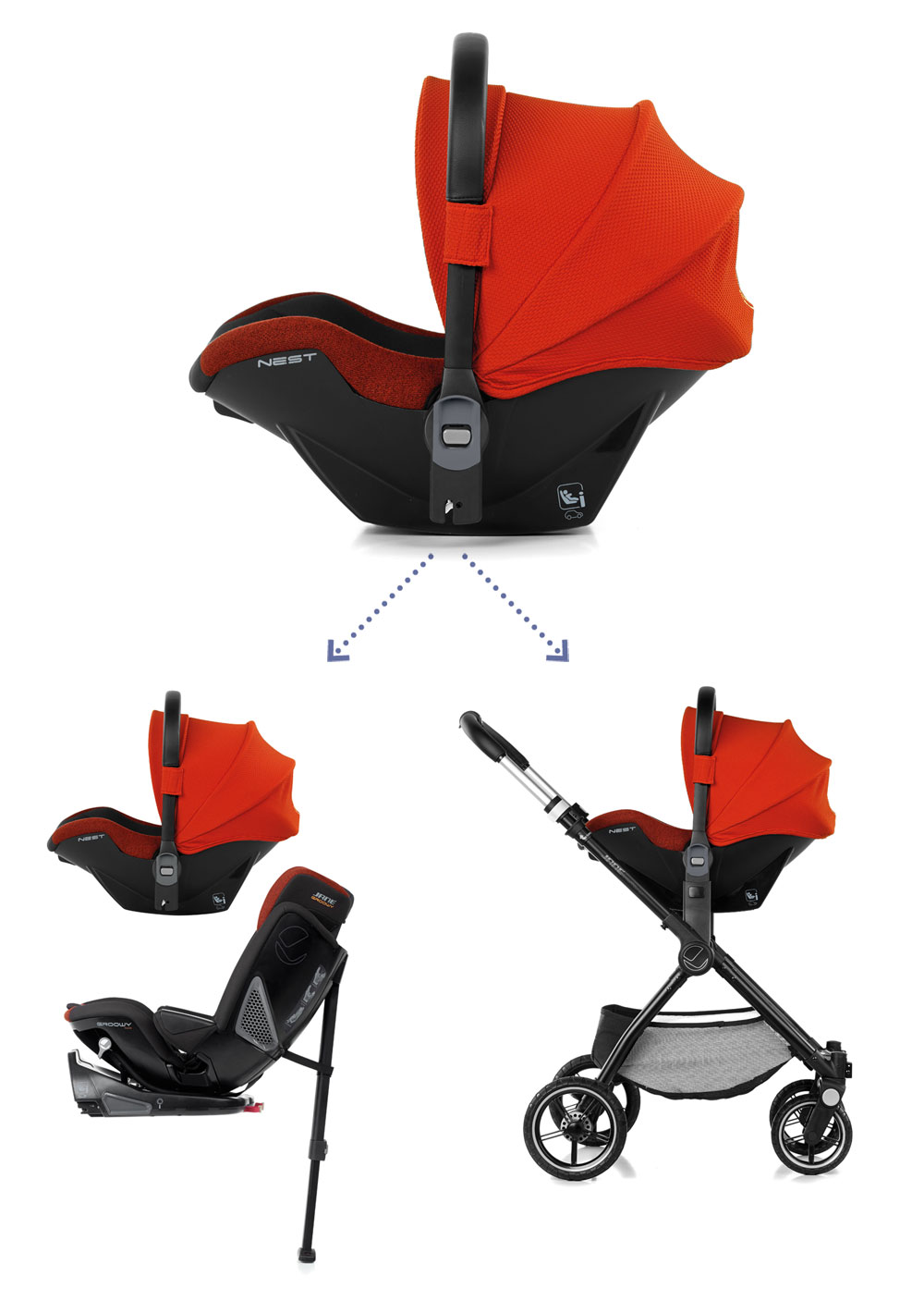 compatible with all Jané pushchairs