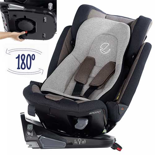 180 degrees rotating car seat