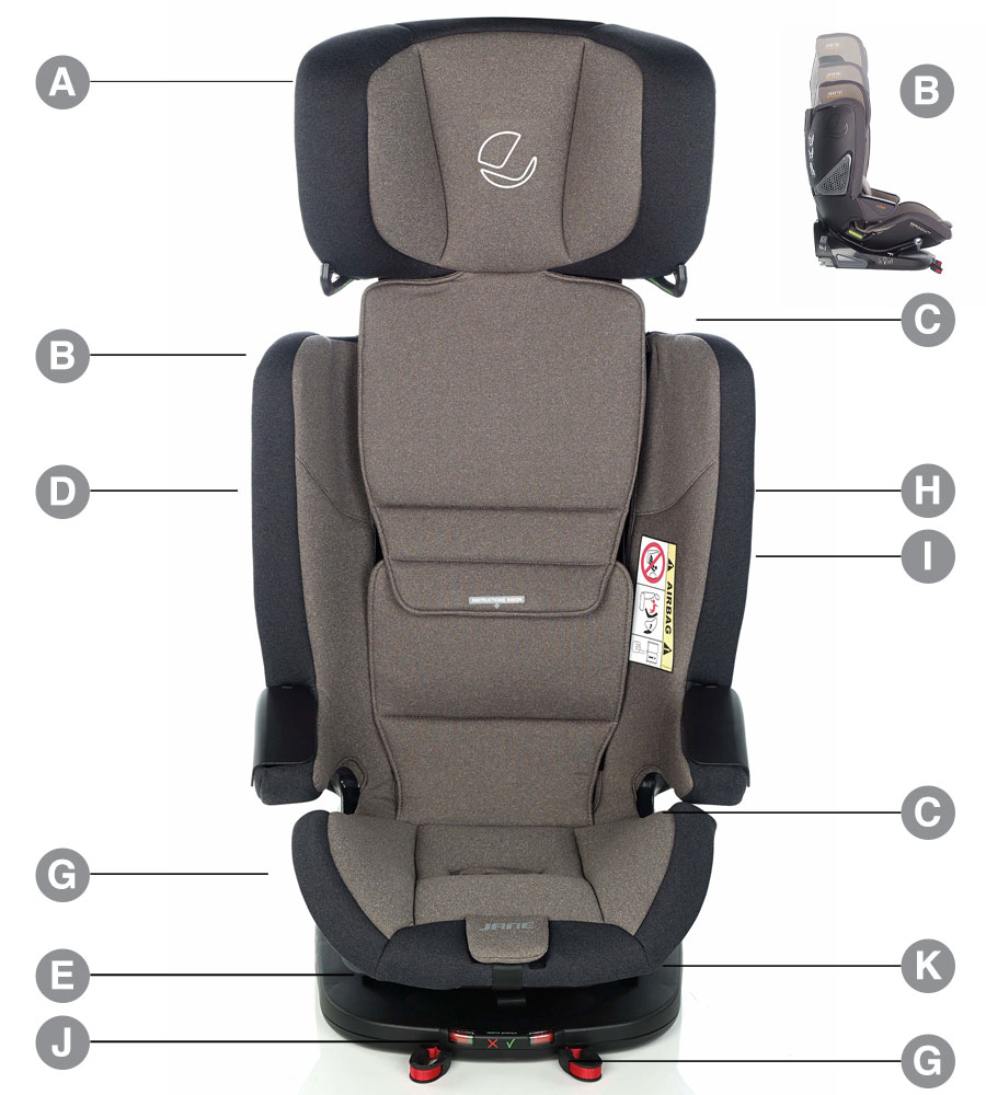 Jane Groowy i-Size Car Seat Technical details