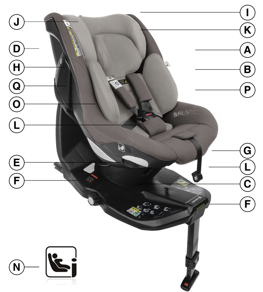 Concord Balance i-Size Car Seat Technical details