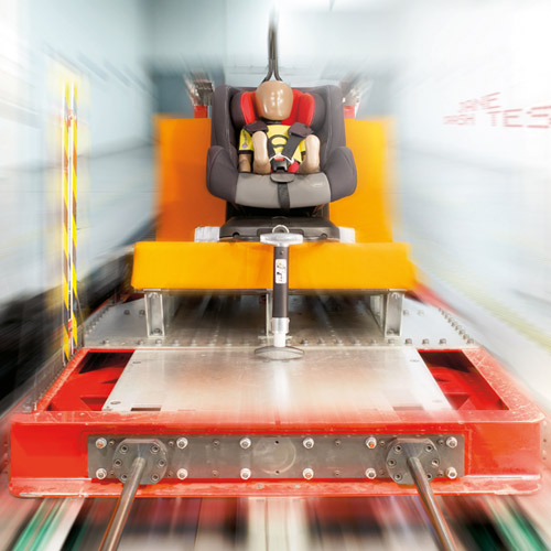 child safety crash test rig