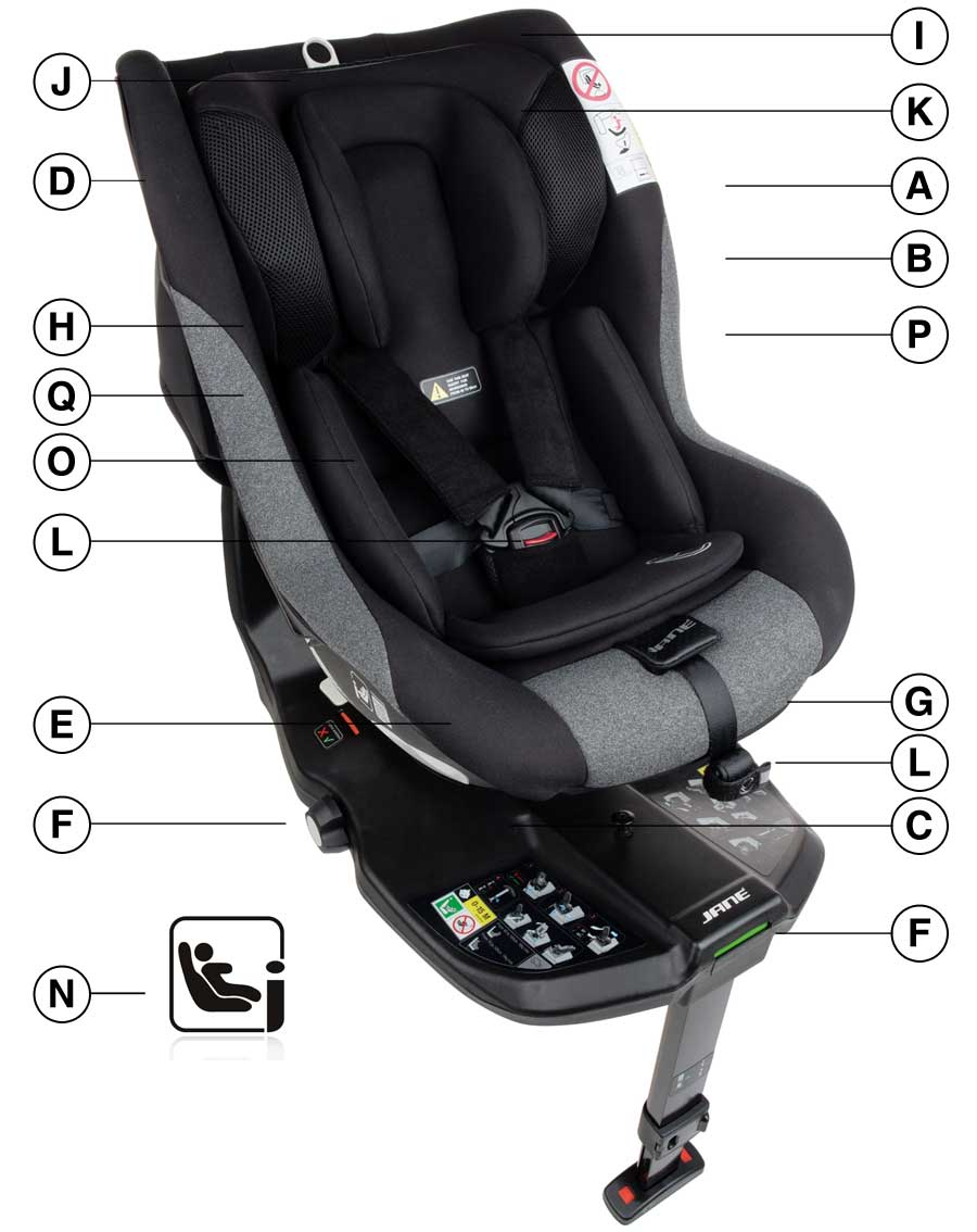 Jane Gravity i-Size CarSeat Technical details