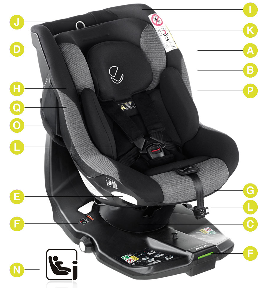 Ikonic Rotating iSize Car Seat - Tech Mouse