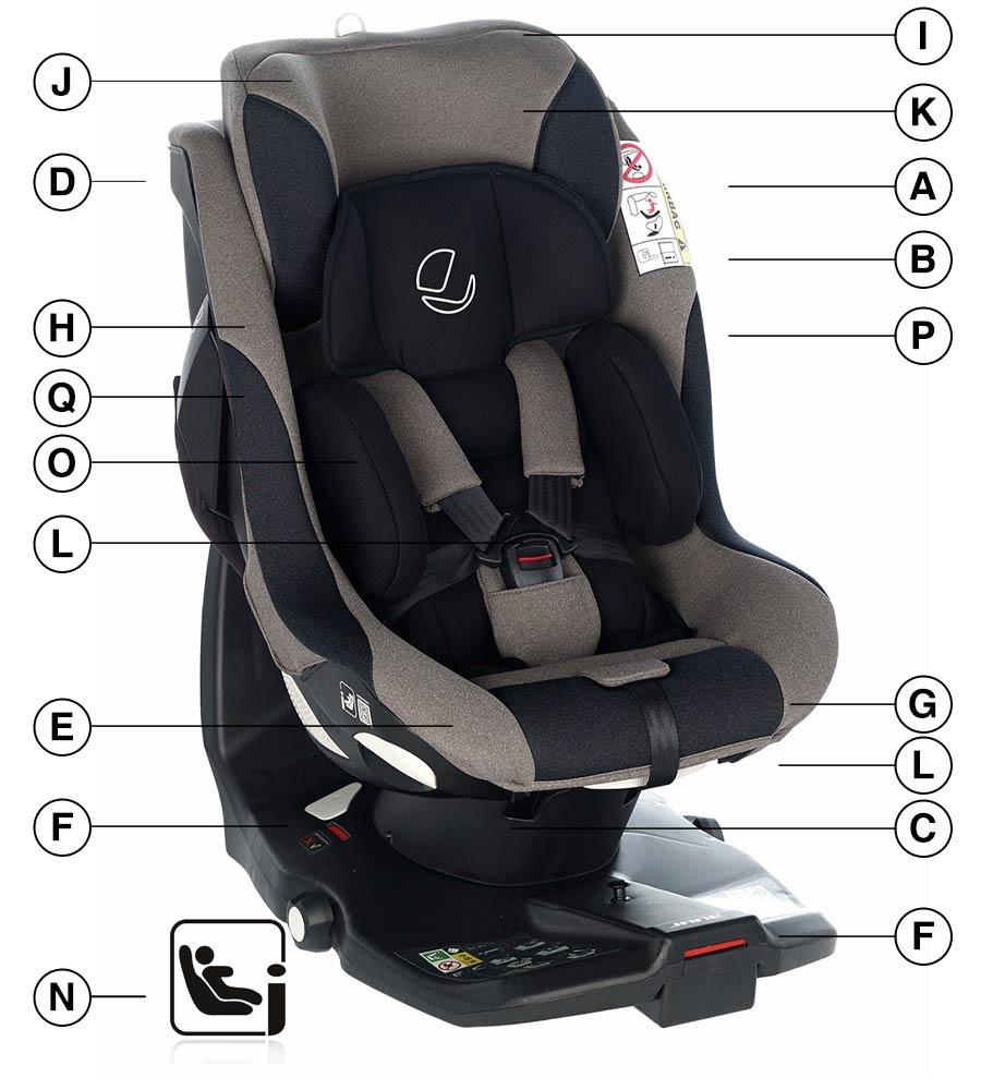 Jane iKonic 2 i-Size CarSeat Technical details