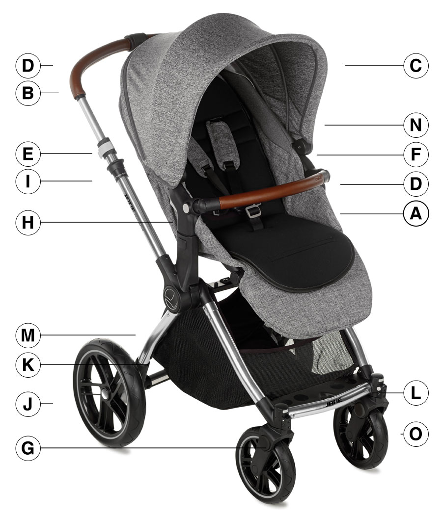Jane Kawai Pushchair Technical details