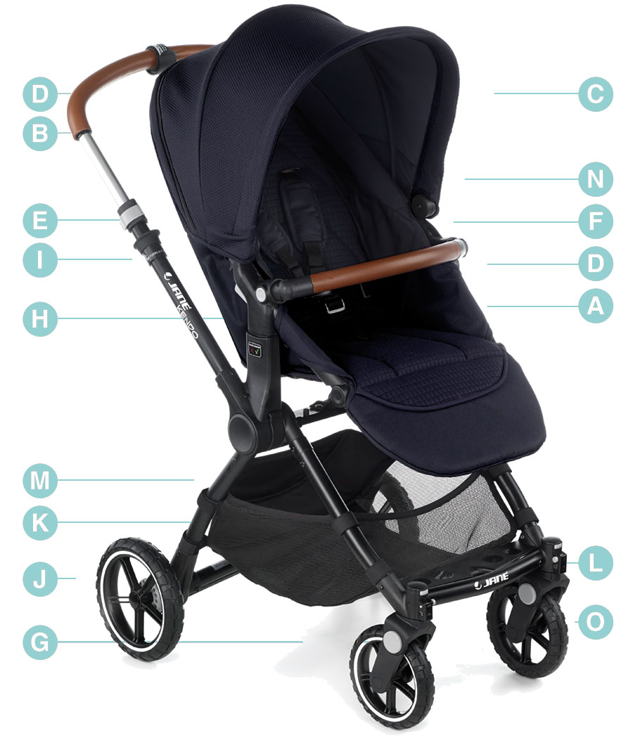 Jane Kendo Pushchair Technical details