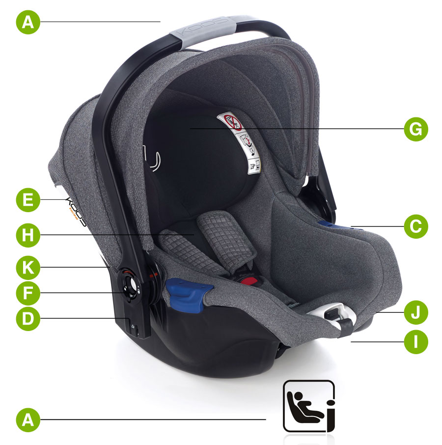Koos iSize child car seat Technical Characteristics