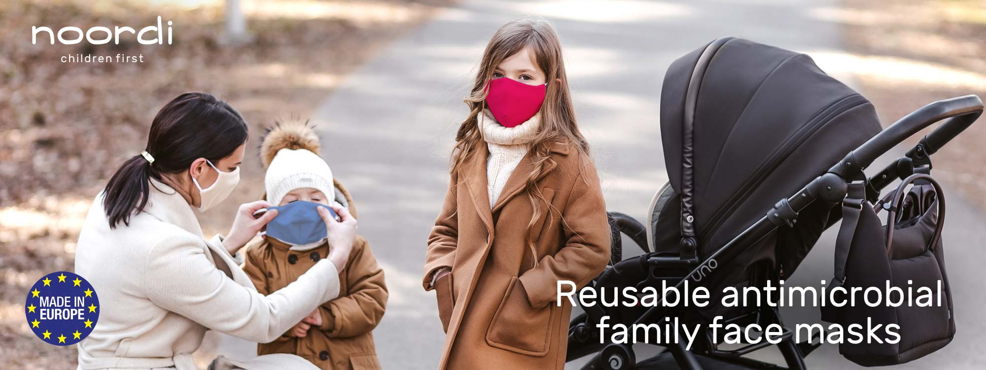 Antimicrobial face masks for family - children first