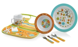 Jane 7 Piece Circus Melamine Feeding Set