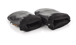 Jane COLD-PROTECT mitts for pushchair (Option: Black Leatherette)