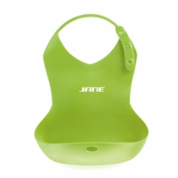 Jane Snap Roll-up Silicone Pelican Bib (Option: Red)