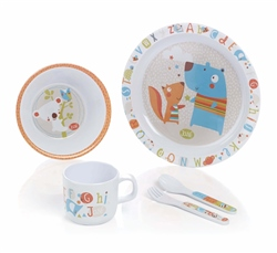 Jane 5 Piece ABC Melamine Feeding Set