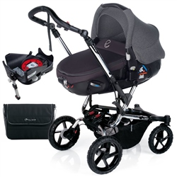 Jane Crosswalk + Matrix + Isofix Base, Black - Chrome