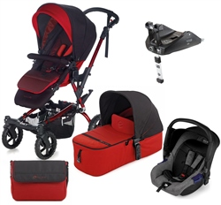 Jane Crosswalk + Micro + Zero + Isofix Base, Red