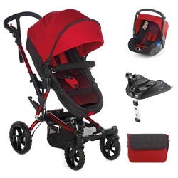Jane Crosswalk Convert + Koos + Isofix Base, Red