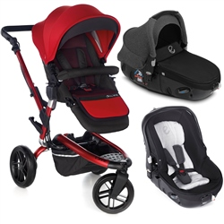 Jane Trider + Matrix Travel System, Red & Jet Black