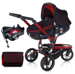 Jane Trider + Matrix + Isofix Base, Red
