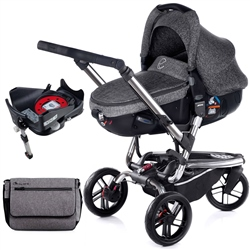 Jane Trider + Matrix + Isofix Base, Soil - Chrome