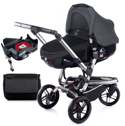 Jane Trider + Matrix + Isofix Base, Black - Chrome