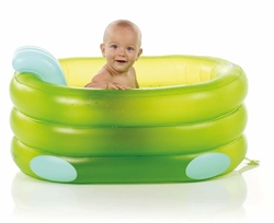 Jane Deluxe Inflatable Bath with 4 Positions​ - Green & Blue (Option: )