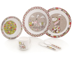 Jane 6 Piece Tangram II Microwave Feeding Set (Option: )