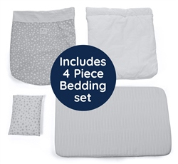 Jane Babyside Crib Luxe + 4 Piece Bedding set
