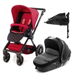 Jane Muum + iMatrix + Isofix Base, Scarlet