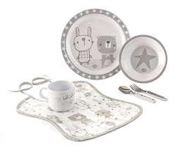 Jane 6 Piece Microwave Crockery Set, Stars