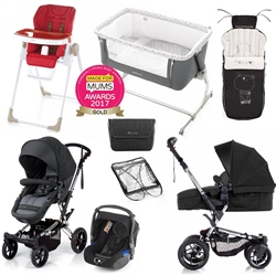 Jane Complete Nursery & Travel System Bundle, Black