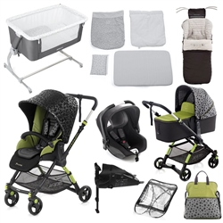Jane Complete Nursery & Travel System Bundle, Sky