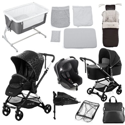 Jane Complete Nursery & Travel System Bundle, Black Star