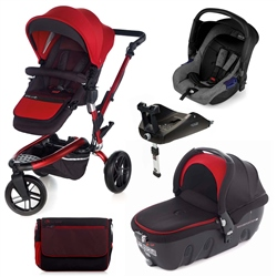Jane Trider + Transporter 2 + Zero + Isofix Base, Red