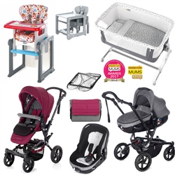 Jane Complete Nursery & Travel System Bundle, Geyser