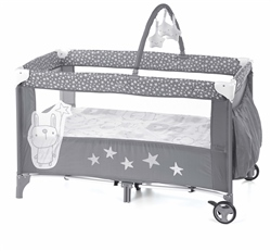 Jane Duo Level Travel Cot & Toys, Stars