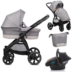 Noordi Sole Go 3in1 Travel System, Warm Grey