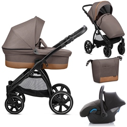 Noordi Sole Go 3in1 Travel System, Dark Brown