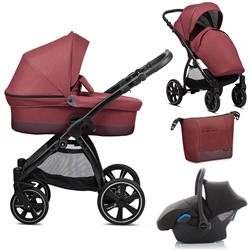 Noordi Sole Go 3in1 Travel System, Garnet