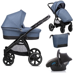 Noordi Sole Go 3in1 Travel System, Blue Jeans