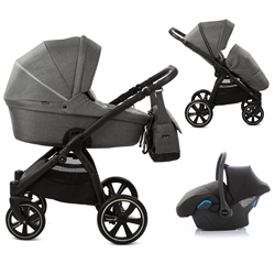 Noordi Fjordi 3in1 Travel System, Dark Grey