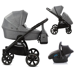 Noordi Fjordi 3in1 Travel System, Grey