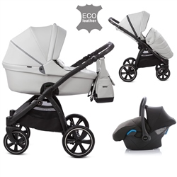 Noordi Fjordi Leather 3in1 Travel System, Cloud