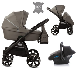 Noordi Fjordi Leather 3in1 Travel System, Graphite